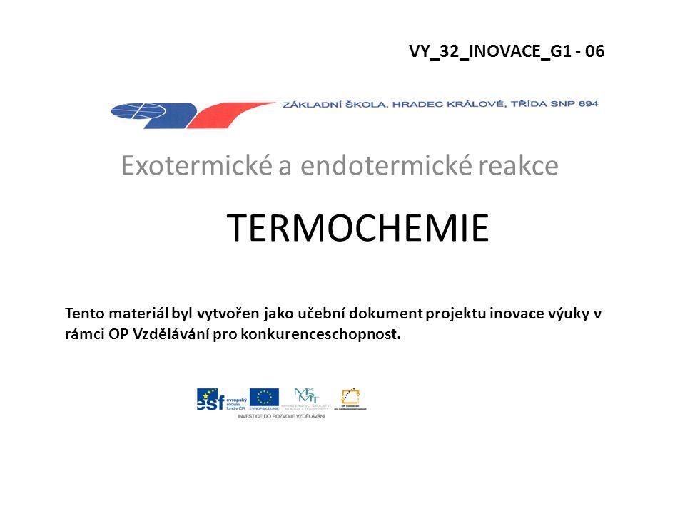 Exotermické a endotermické reakce