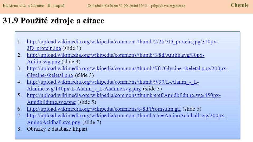 31.9 Použité zdroje a citace