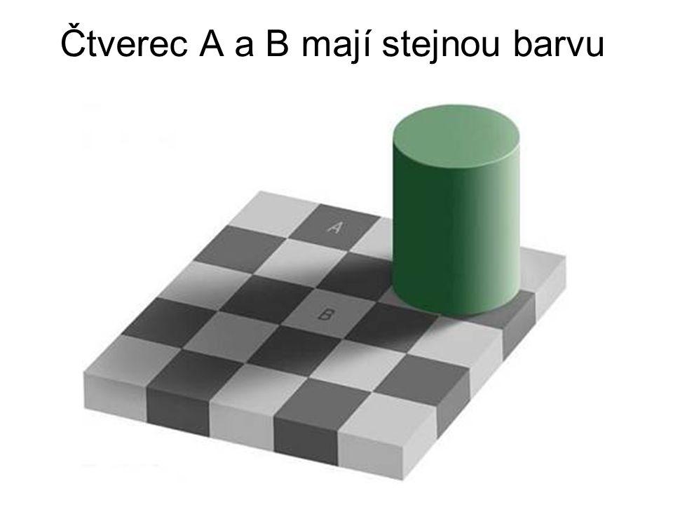 Čtverec A a B mají stejnou barvu