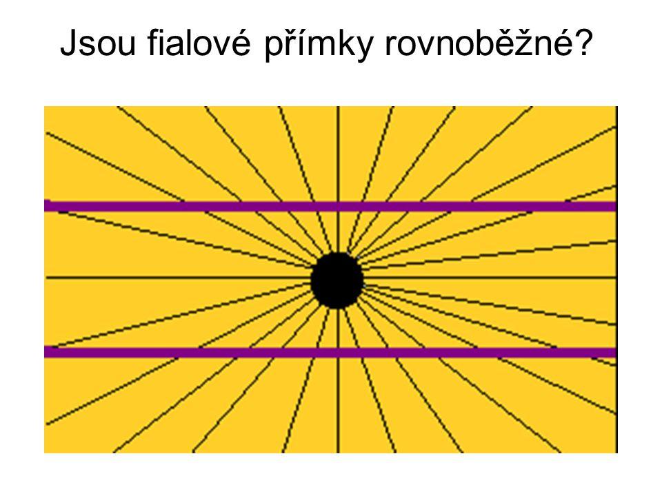 Jsou fialové přímky rovnoběžné