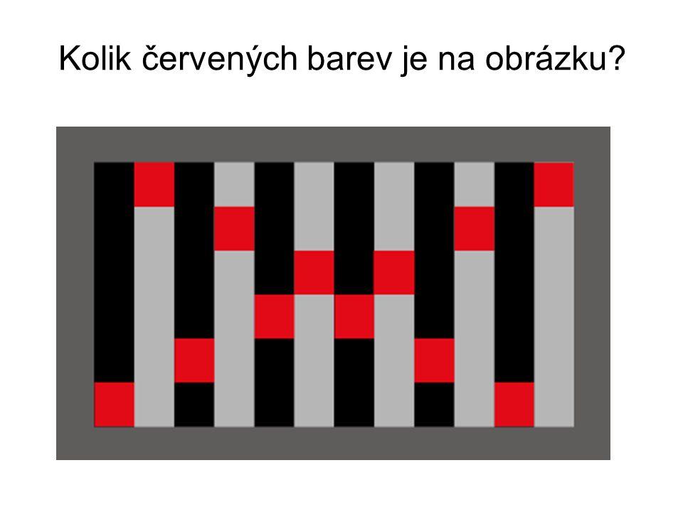 Kolik červených barev je na obrázku