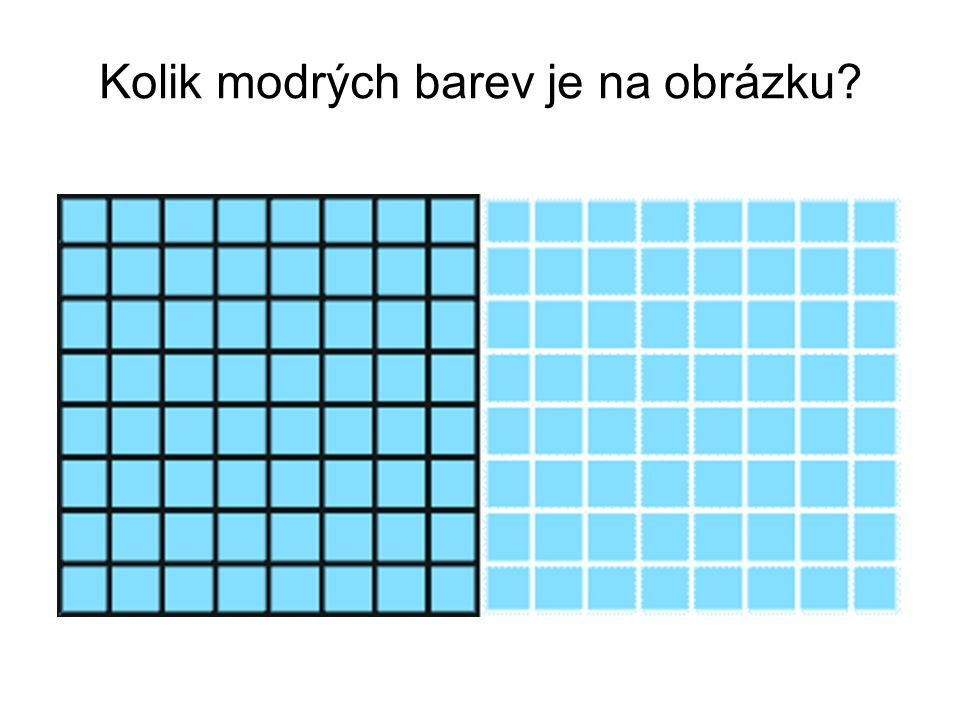 Kolik modrých barev je na obrázku