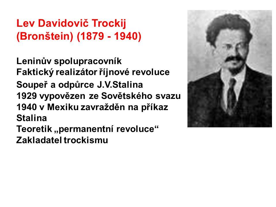 Lev Davidovič Trockij (Bronštein) (1879 - 1940)