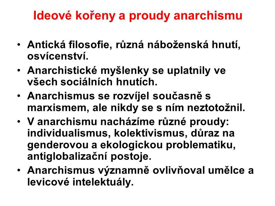 Ideové kořeny a proudy anarchismu