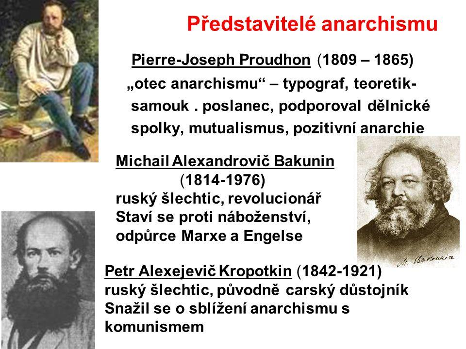 Představitelé anarchismu