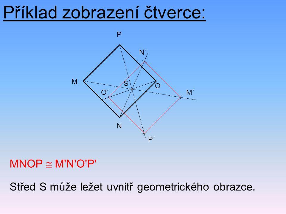 Příklad zobrazení čtverce: