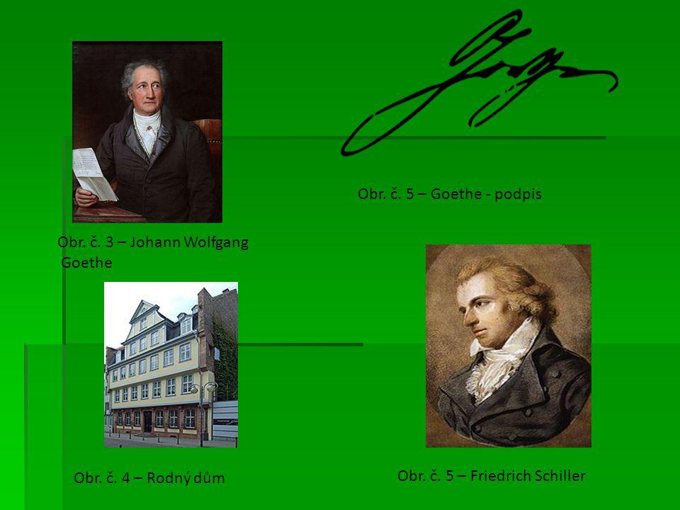 Obr. č. 5 – Goethe - podpis Obr. č. 3 – Johann Wolfgang.