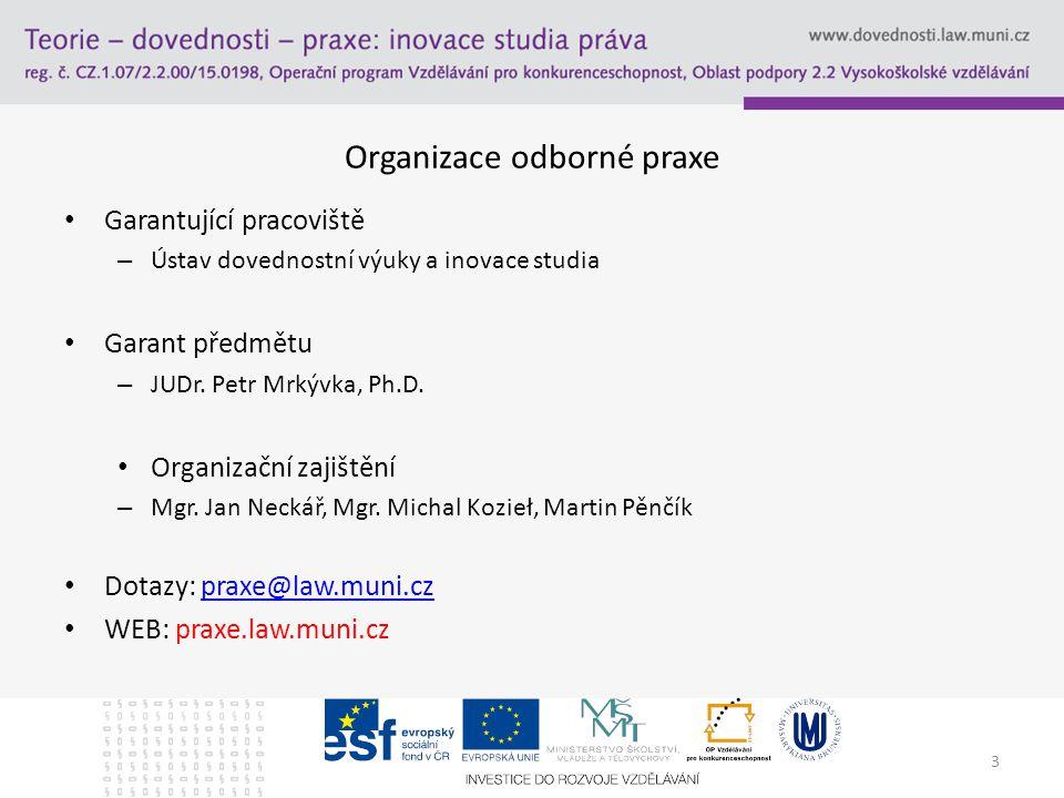 Organizace odborné praxe