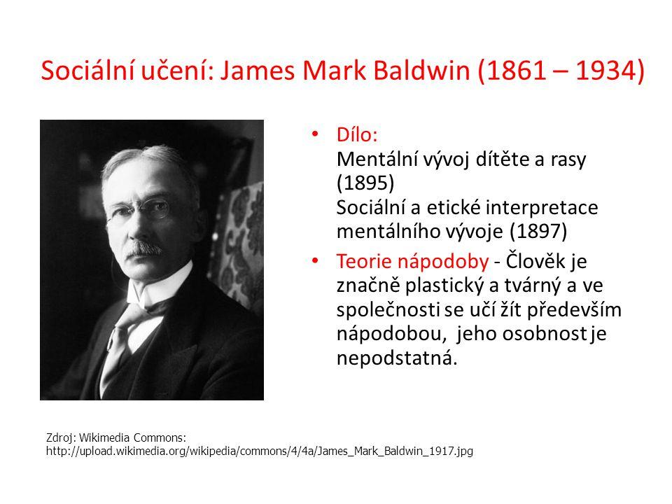 Sociální učení: James Mark Baldwin (1861 – 1934)