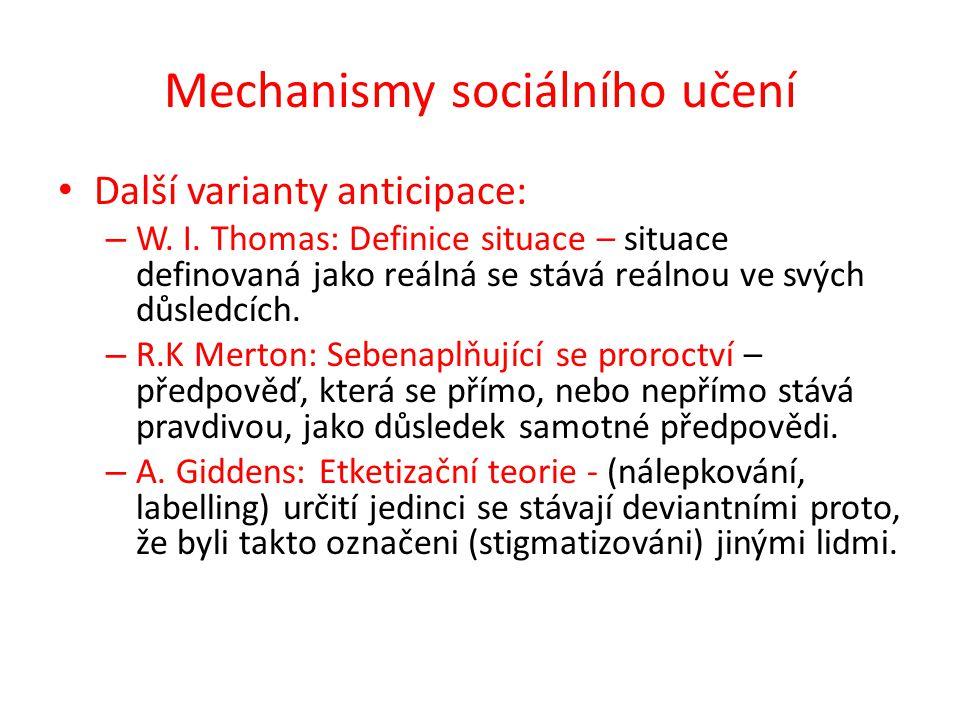 Mechanismy sociálního učení