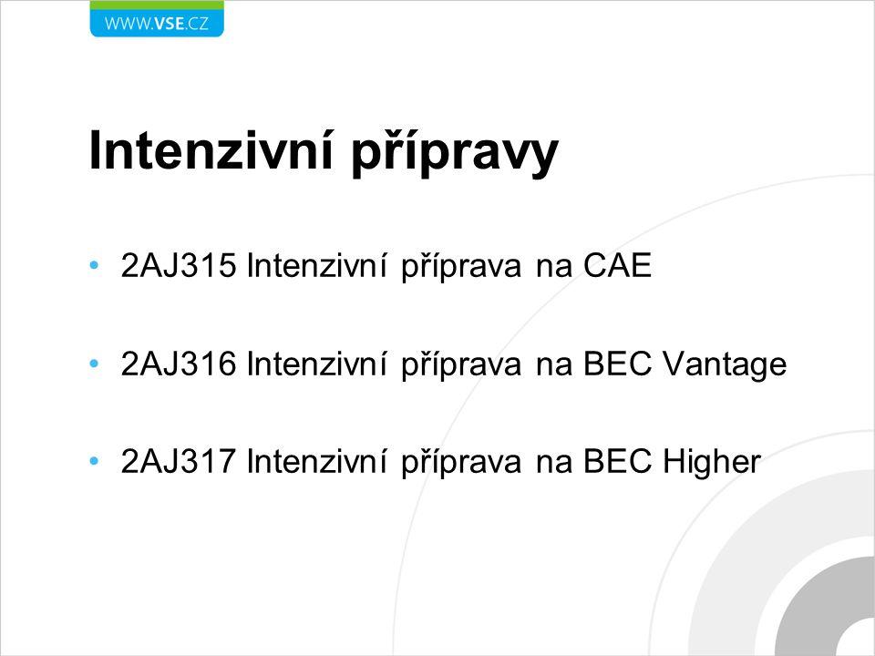Intenzivní přípravy 2AJ315 Intenzivní příprava na CAE