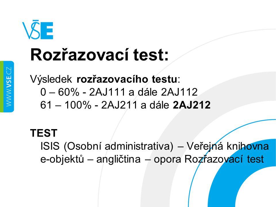 Rozřazovací test:
