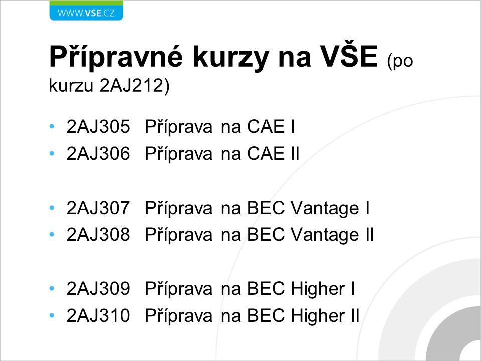 Přípravné kurzy na VŠE (po kurzu 2AJ212)