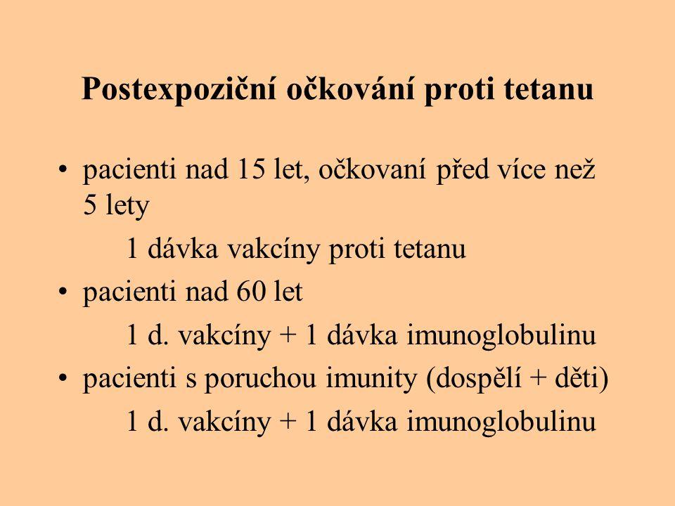Postexpoziční očkování proti tetanu
