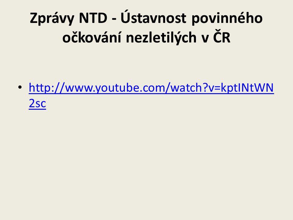 Zprávy NTD - Ústavnost povinného očkování nezletilých v ČR