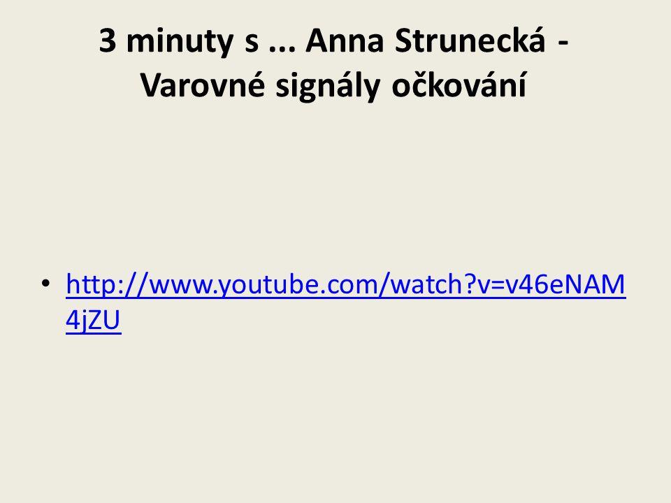 3 minuty s ... Anna Strunecká - Varovné signály očkování