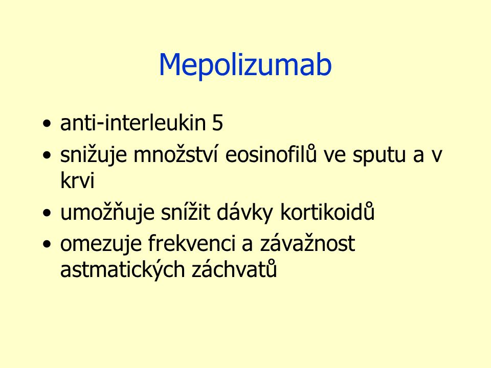 Mepolizumab anti-interleukin 5