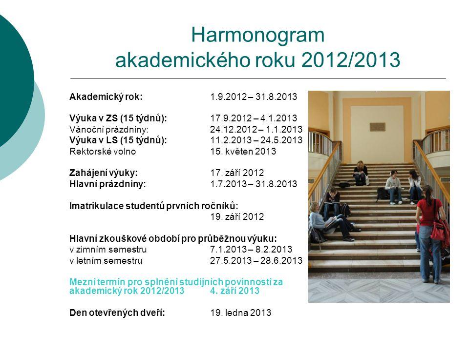 Harmonogram akademického roku 2012/2013