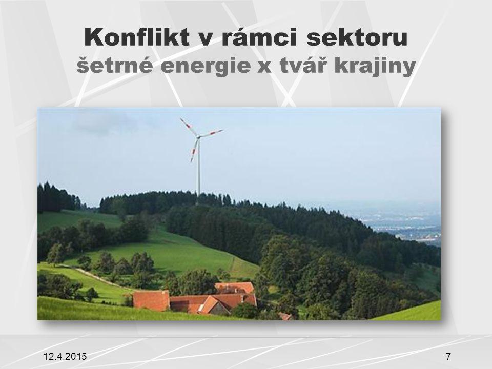 Konflikt v rámci sektoru šetrné energie x tvář krajiny