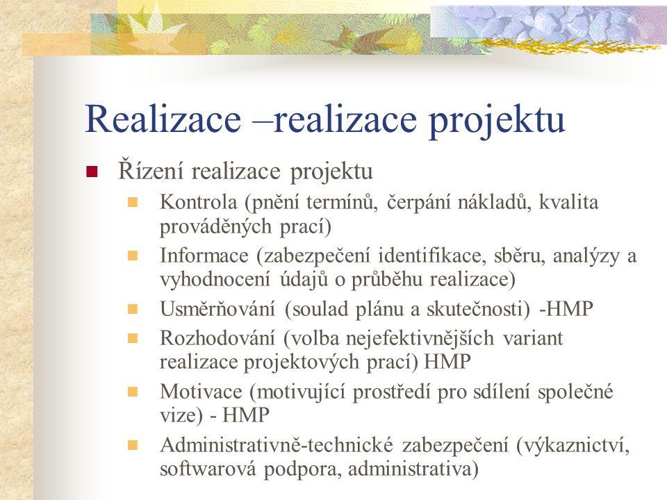 Realizace –realizace projektu