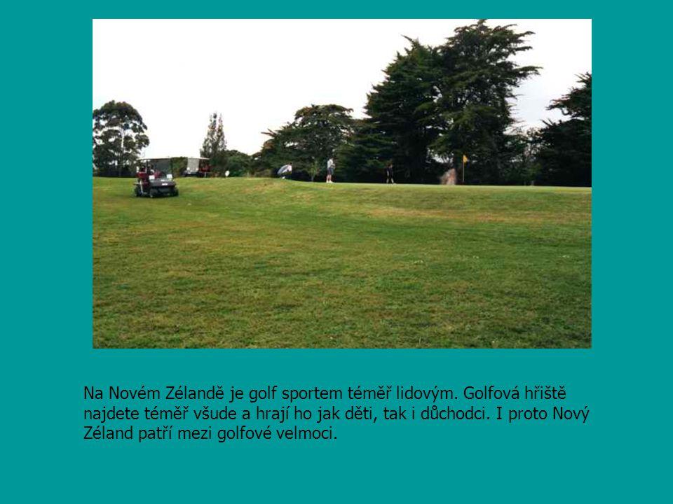 Na Novém Zélandě je golf sportem téměř lidovým