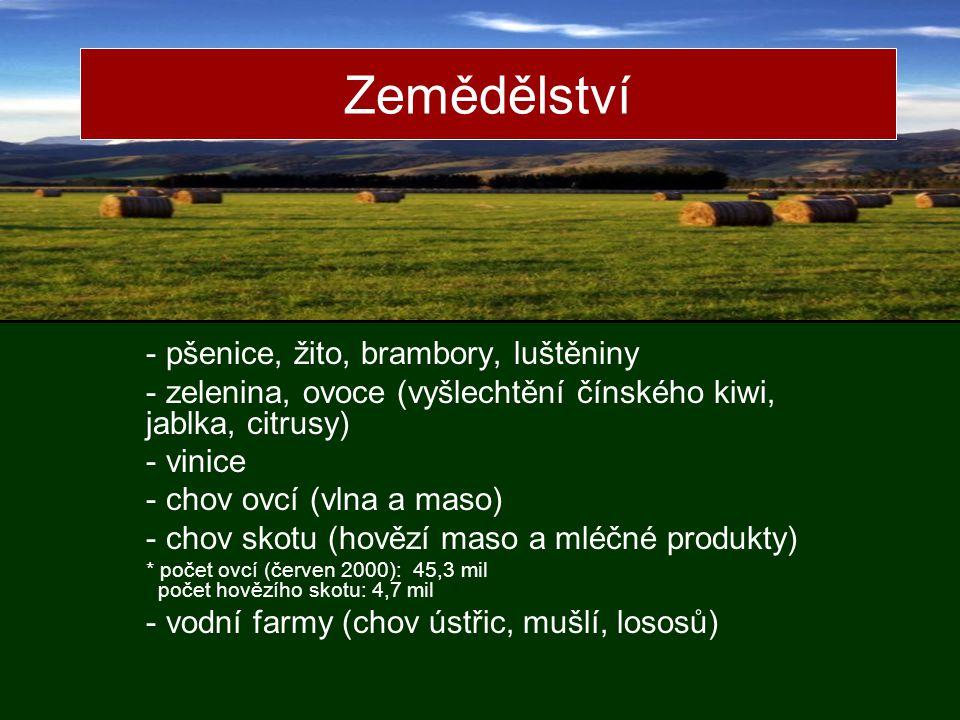 Zemědělství pšenice, žito, brambory, luštěniny