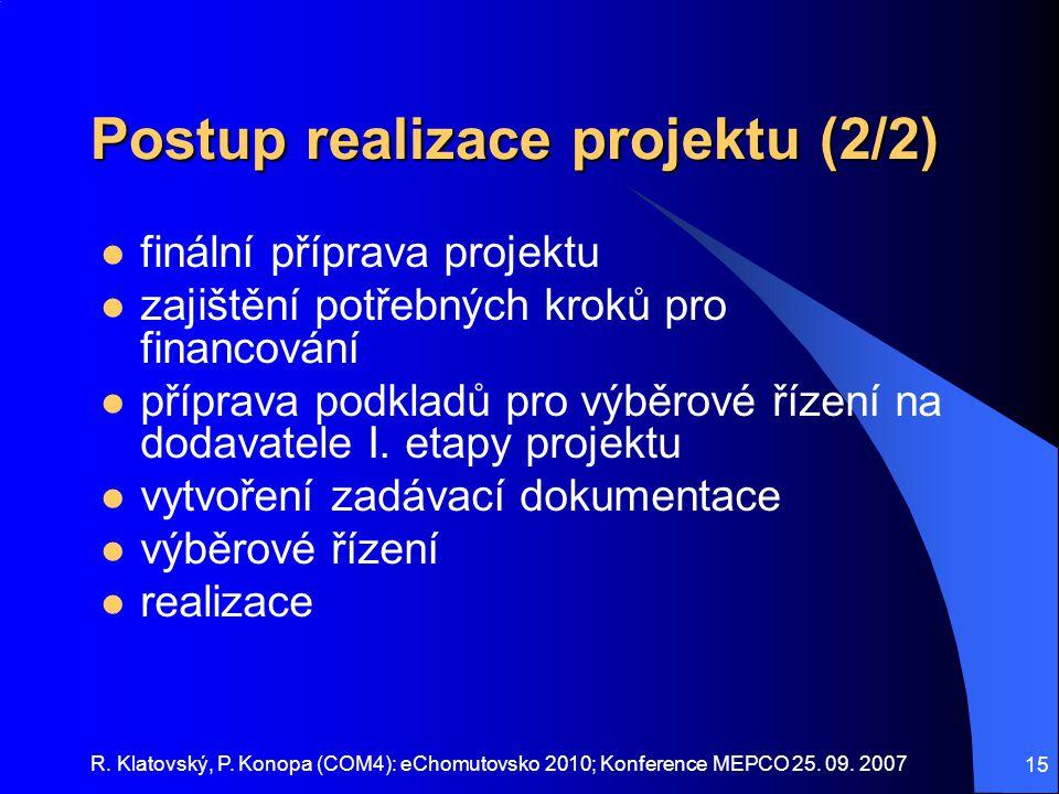 Postup realizace projektu (2/2)
