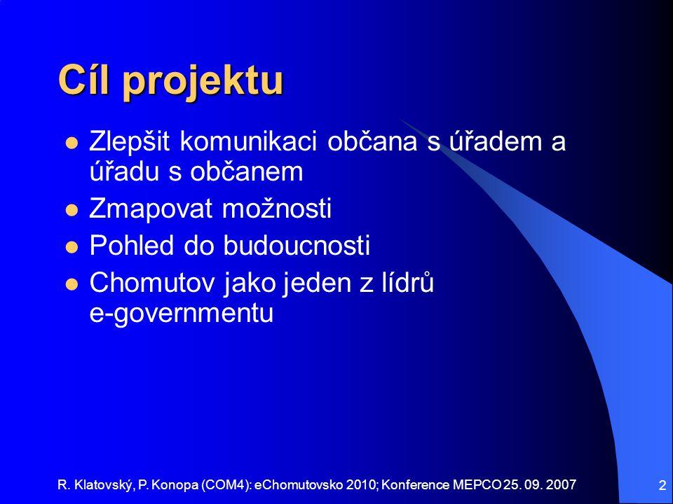 Cíl projektu Zlepšit komunikaci občana s úřadem a úřadu s občanem