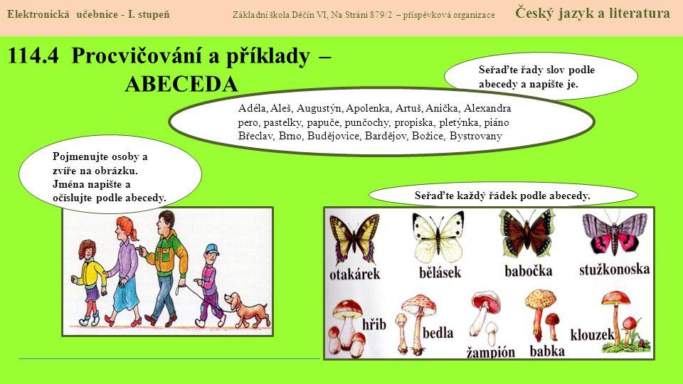 114.4 Procvičování a příklady – ABECEDA