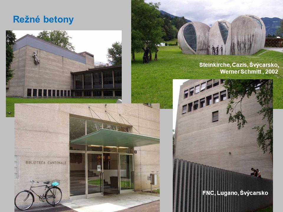 Režné betony Steinkirche, Cazis, Švýcarsko, Werner Schmitt , 2002