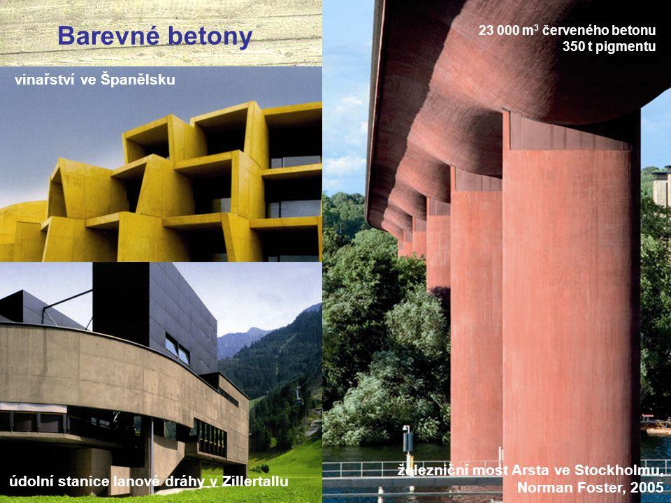Barevné betony vinařství ve Španělsku