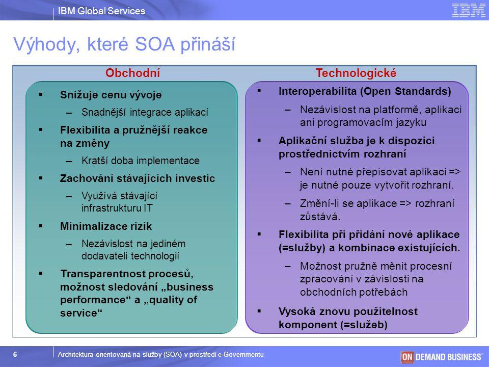 Výhody, které SOA přináší