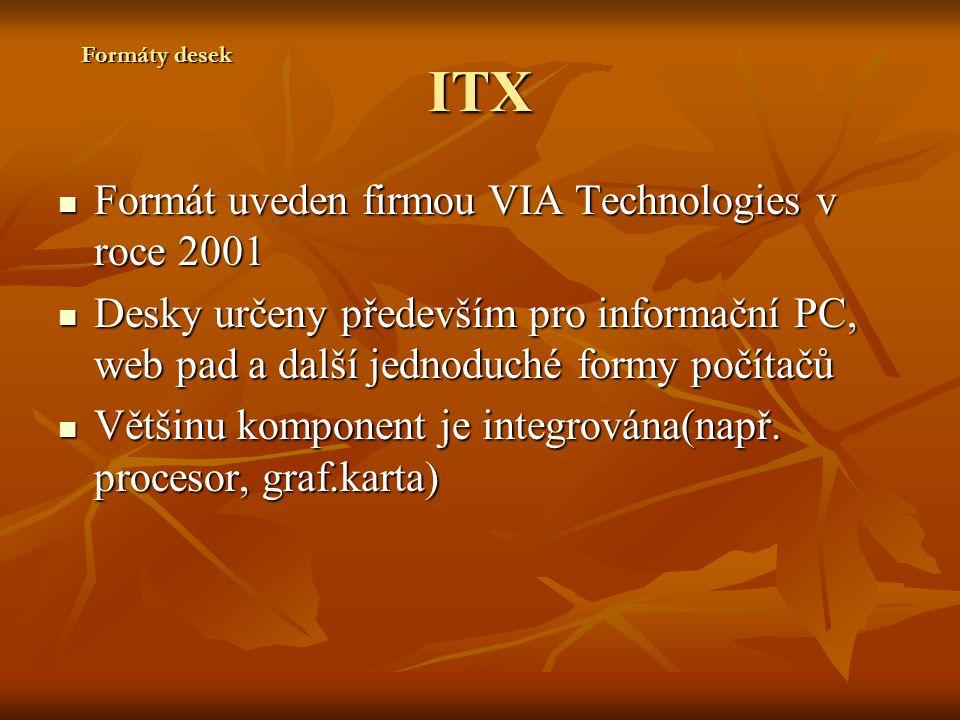 ITX Formát uveden firmou VIA Technologies v roce 2001