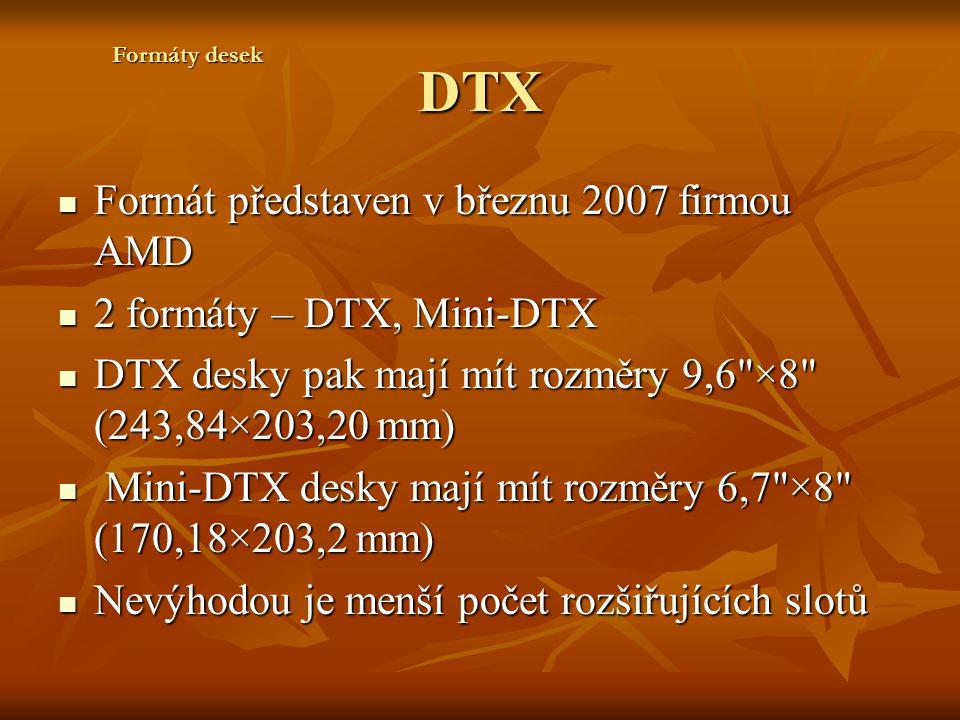 DTX Formát představen v březnu 2007 firmou AMD