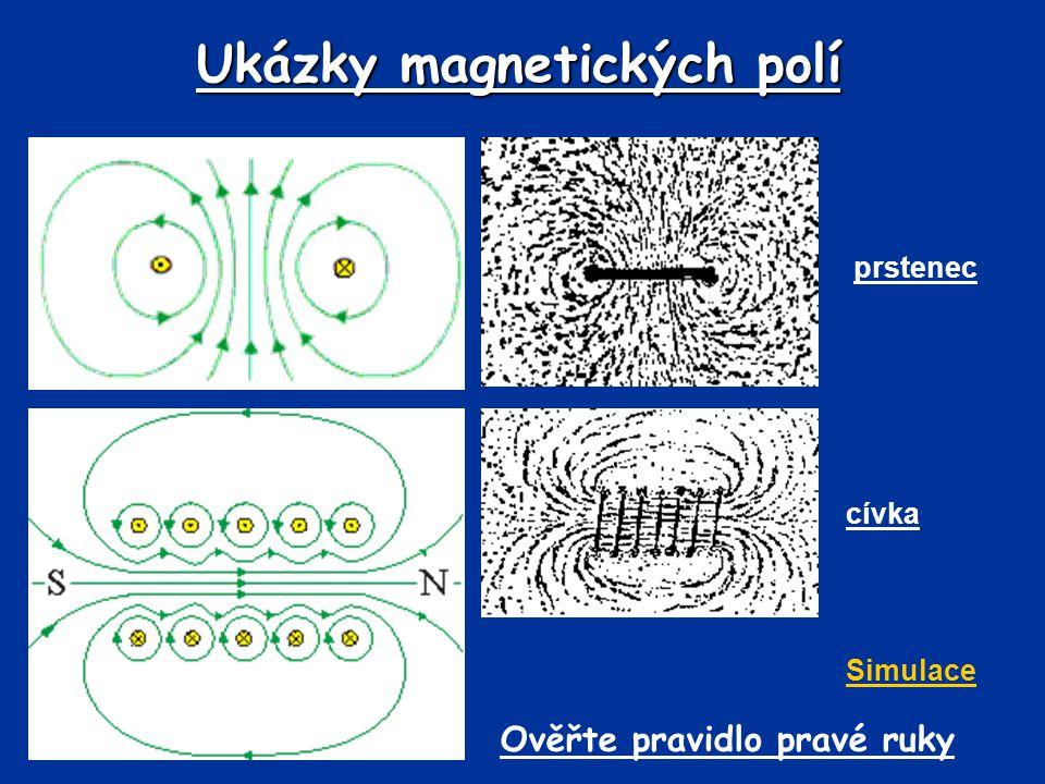 Ukázky magnetických polí