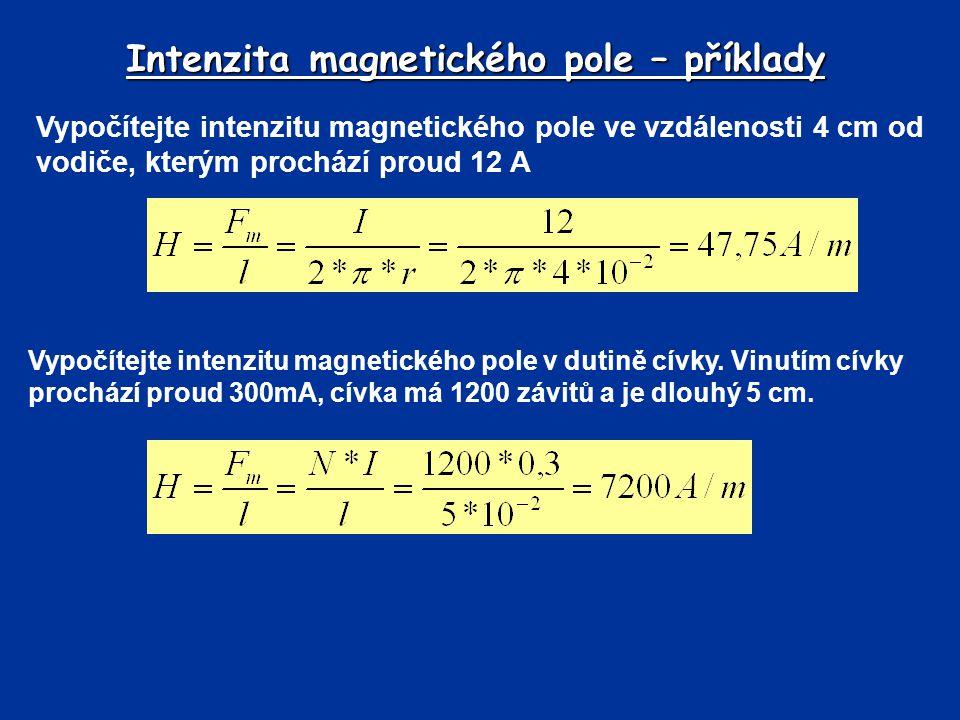 Intenzita magnetického pole – příklady