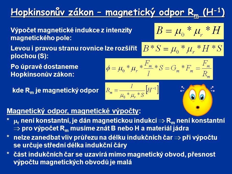 Hopkinsonův zákon – magnetický odpor Rm (H-1)