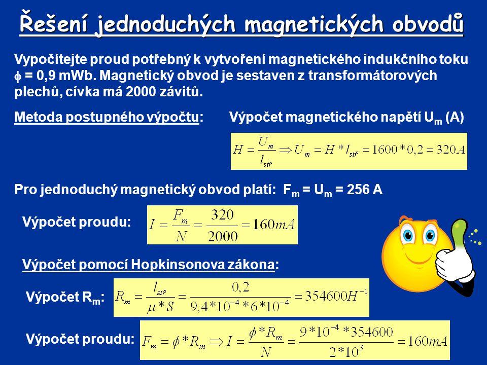 Řešení jednoduchých magnetických obvodů