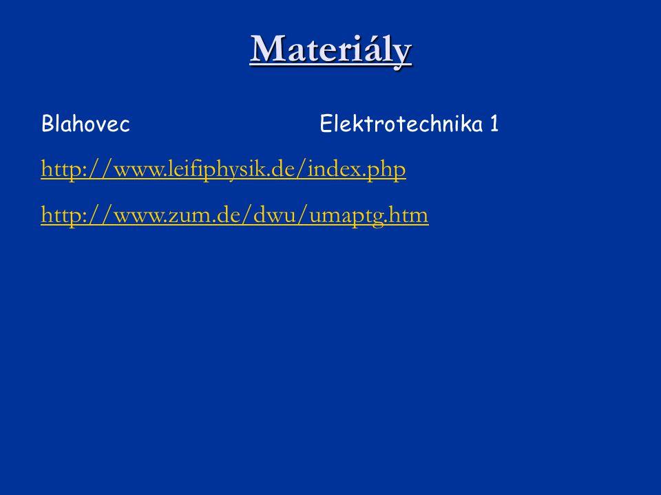 Materiály http://www.leifiphysik.de/index.php