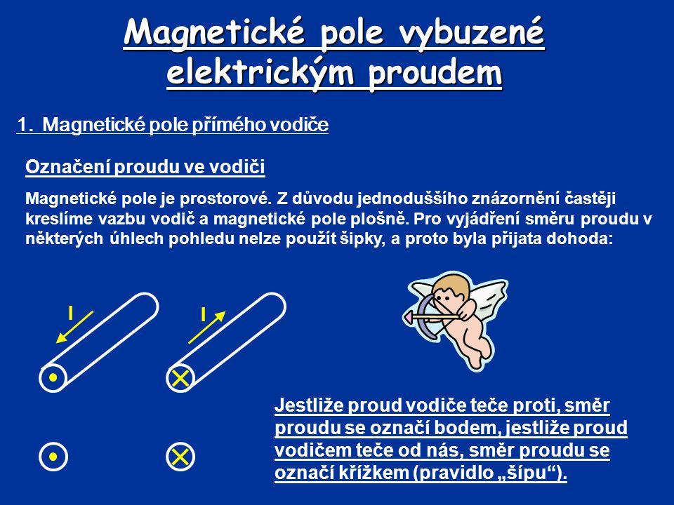 Magnetické pole vybuzené elektrickým proudem