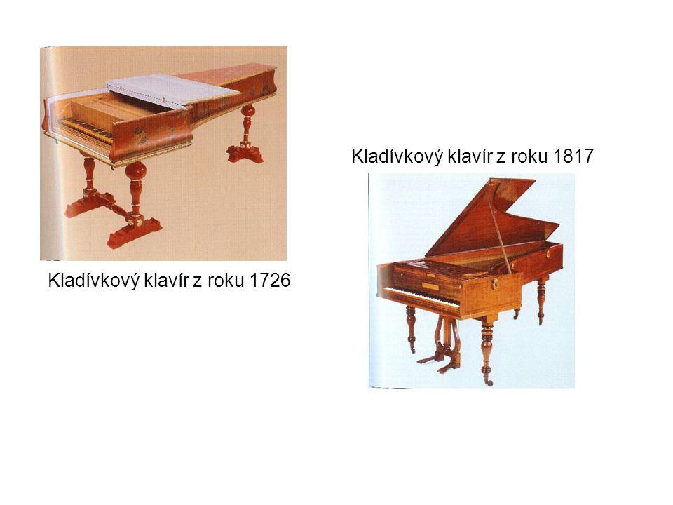 Kladívkový klavír z roku 1726