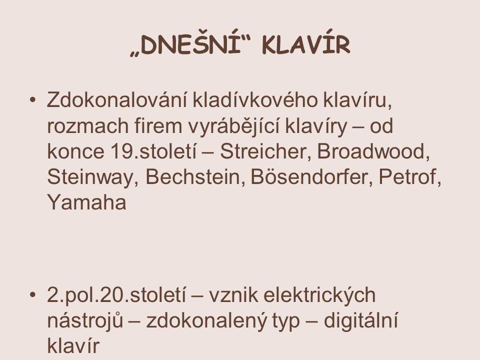 """""""DNEŠNÍ KLAVÍR"""