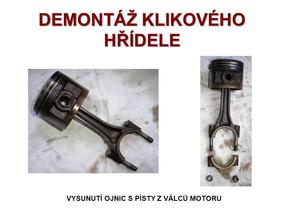 DEMONTÁŽ KLIKOVÉHO HŘÍDELE