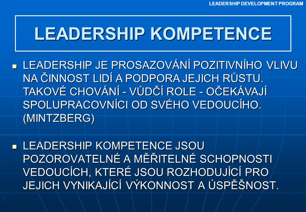 LEADERSHIP KOMPETENCE