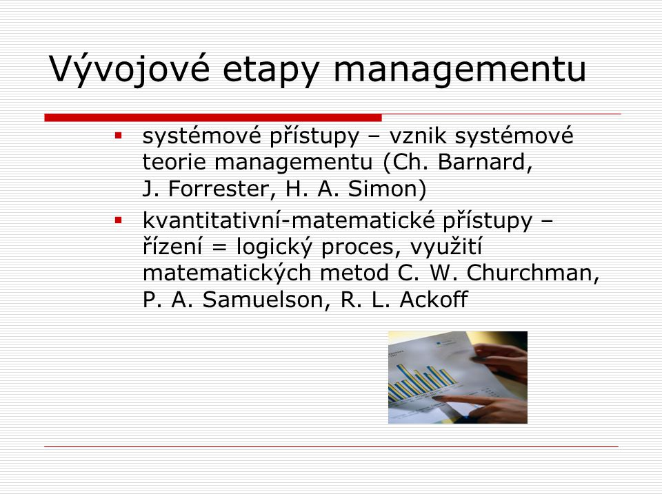 Vývojové etapy managementu