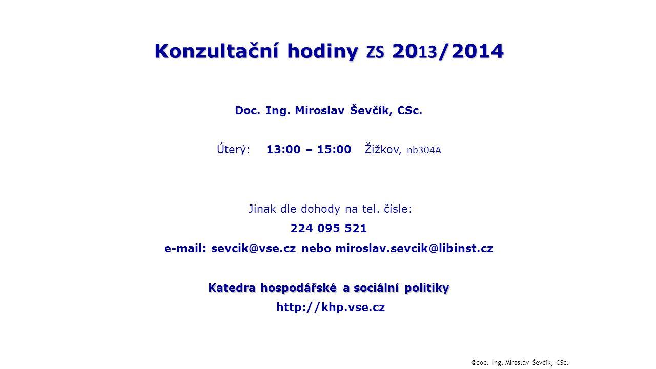 Konzultační hodiny ZS 2013/2014