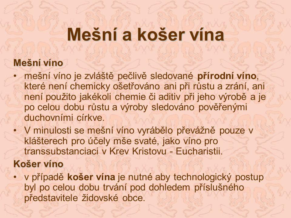 Mešní a košer vína Mešní víno