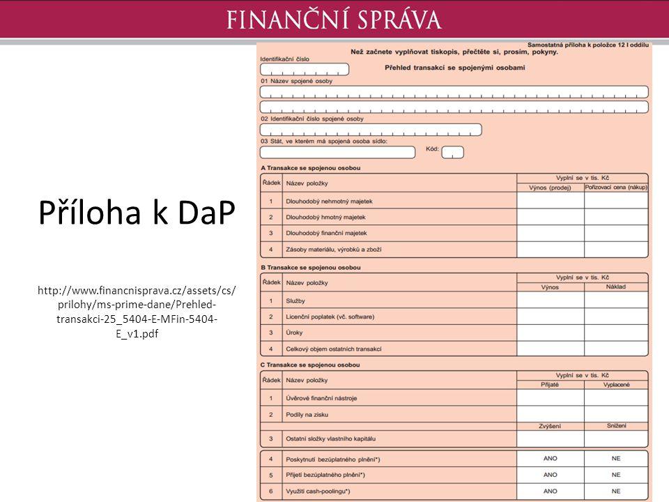 Příloha k DaP http://www. financnisprava