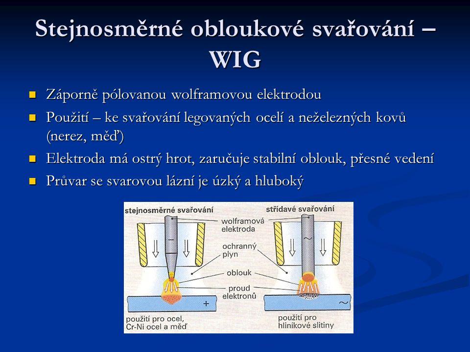 Stejnosměrné obloukové svařování – WIG