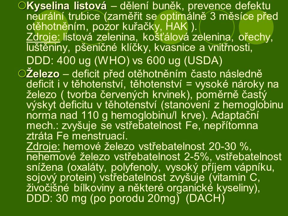 DDD: 400 ug (WHO) vs 600 ug (USDA)